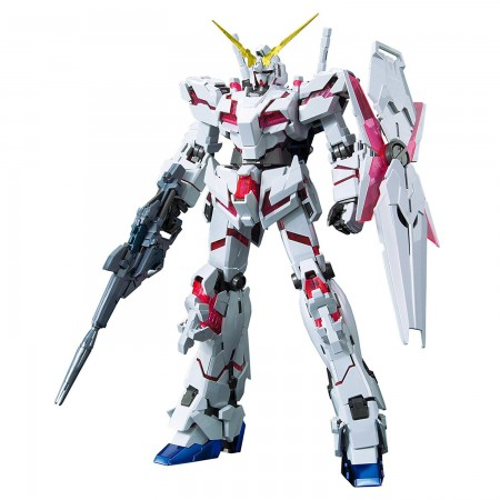 Bandai MG Unicorn Gundam (Red / Green Twin Frame Edition) Titanium Finish 1/100