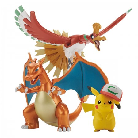 Bandai Pokemon Plastic Model Collection Ho-oh & Charizard & Ash Ketchum`s Pikachu
