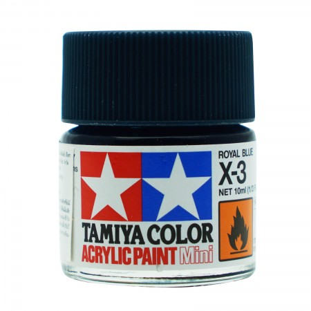 Tamiya X-3 Acrylic Royal Blue รุ่น TA 81503