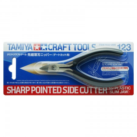 Tamiya Sharp Pointed Side Cutter for Plastic Slim Jaw รุ่น TA 74123 (คีมมหาเทพ)