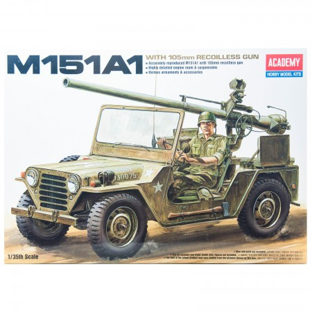 Academy Hummer M151A1 with 105mm Recoilless Gun 1/35 รุ่น AC 13003