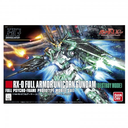 Bandai HG RX-0 Full Armor Unicorn Gundam (Destroy Mode) 1/144