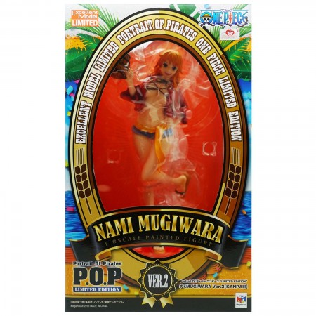 MegaHouse Portrait.Of.Pirates One Piece Nami Mugiwara Ver 2 Kanpai (PVC Figure)