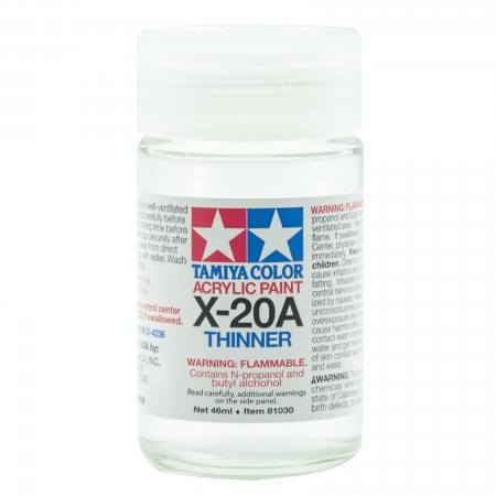 Tamiya X-20A Thinner Acrylic Paint 46 ml TA 81030