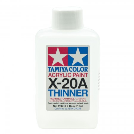 Tamiya X-20A Thinner Acrylic Paint 250 ml TA 81040